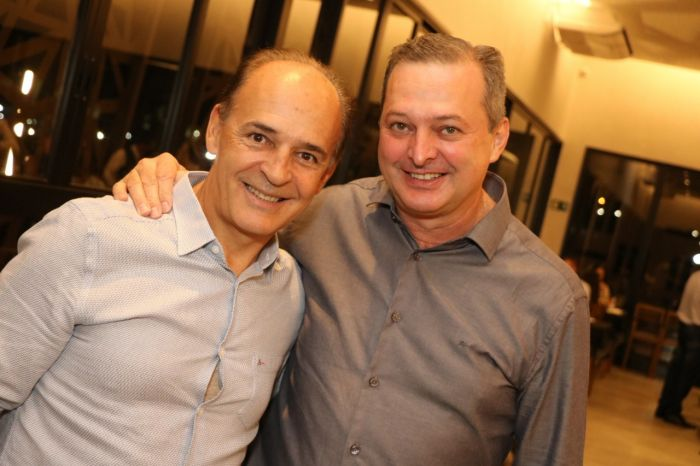 Reginaldo Diniz e Sergio Cantu celebram o sucesso da  Boigalê.