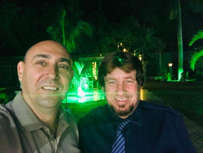 Carlos Marcelo e Pedro Marinelli, durante inauguração do Castelo Marinelli.