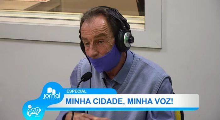 Luiz Carlos de Siqueira, prefeito de Aparecida, durante programa na última sexta-feira (16) na Rádio POP.