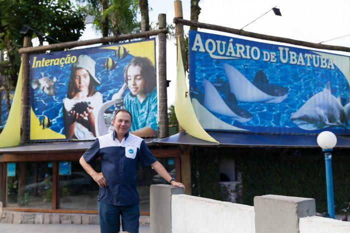Hugo Gallo, fundador do Aquário de Ubatuba.