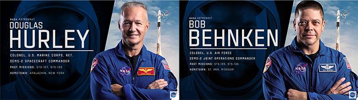 Astronautas Robert Behnken e Douglas Hurley