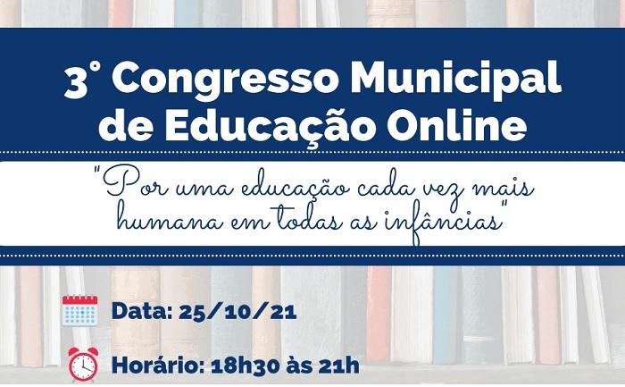 3º Congresso Municipal de Educação Online acontece dia 25 em Pindamonhangaba