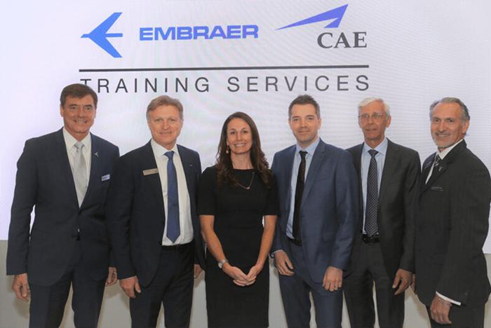 Embraer em parceria com a CAE lança novo simulador de voopara o Phenom 300
