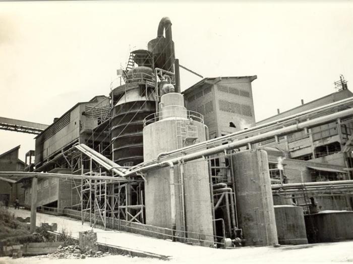 Companhia Suzano de Papel e Celulose - Fábrica B em1971