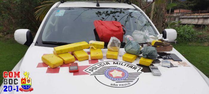 PM apreende 8 quilos de drogas em Ilhabela.