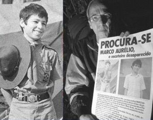 Marco Aurélio e o pai, Ivo Simon.