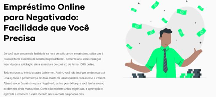 Empréstimo para negativados: como solicitar de forma online