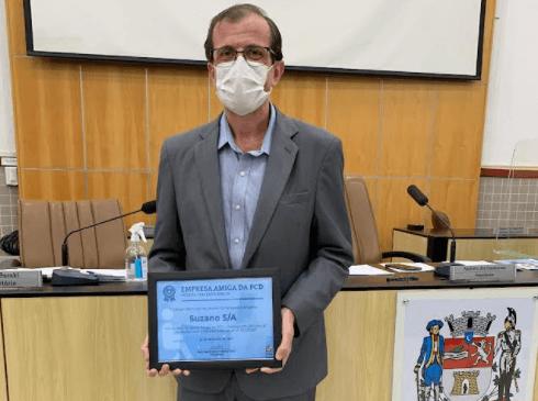 Em Jacareí, Suzano recebeSelo Empresa Amiga da Pessoa com Deficiência