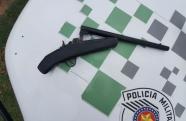 Arma artesanal com grande poder de fogo é apreendida pela Polícia Ambiental em Lavrinhas