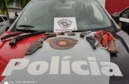 Policiais encontram armas em Guaratinguetá