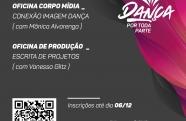 Oficinas de produção e dança gratuitas em Pindamonhangaba