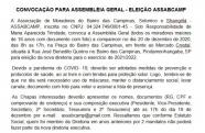 Associação de Moradores do Bairro das Campinas convoca moradores para Assembléia Geral