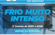 Em São Sebastião, Defesa Civil faz alerta para ressaca marítima