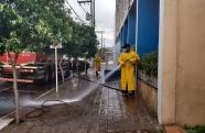 Pinda inicia higienização das ruas com apoio da SABESP