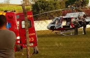 Jovem de 23 anos fica gravemente ferido em acidente na cidade de Lavrinhas