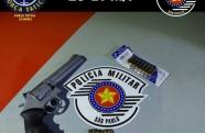 Força Tática prende homem por porte ilegal de arma de fogo, em Potim