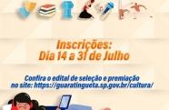 Guaratinguetá lança edital para propostas artísticas e culturais online