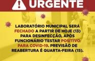 Laboratório Municipal e Pindamonhangaba fecha para desinfecção