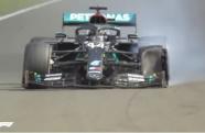 Lewis Hamilton garante vitória mesmo com pneu estourado