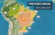 Fim de semana será de chuva no Estado de São Paulo