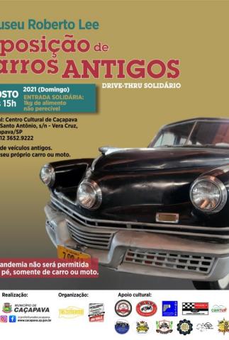 Caçapava realiza exposição de veículos antigos no dia 1º de agosto