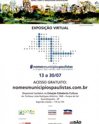 Exposição Virtual  #nomesmunicipiospaulistas