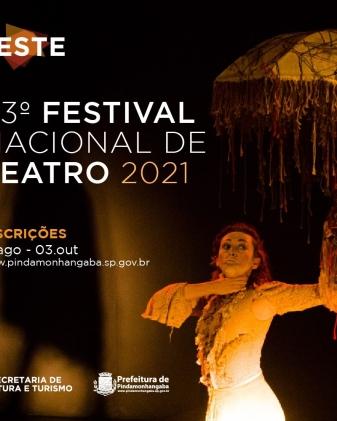Inscrições para o 43° Festival Nacional de Teatro de Pindamonhangaba
